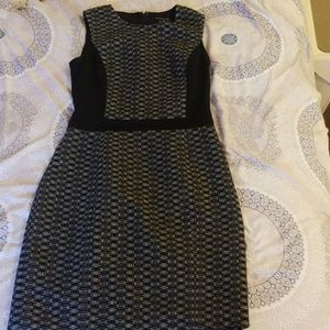 Grey and black theory dress